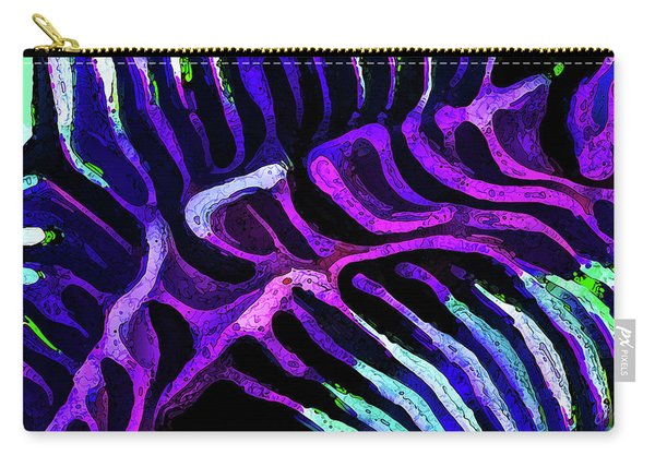 Brain Coral Abstract 2 In Purple Carry-all Pouch