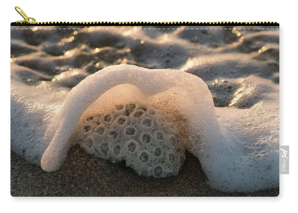 Coral Foamy Splash Delray Beach Florida Carry-all Pouch
