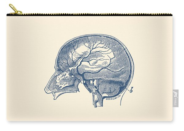 Brain Diagram Two - Anatomy Poster Carry-all Pouch