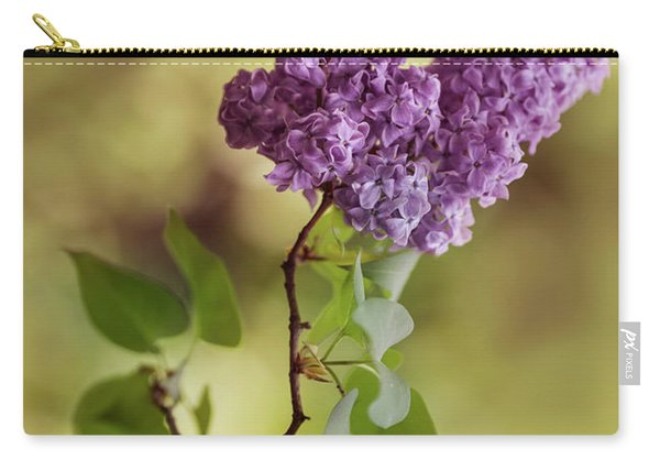 Carry-all Pouch featuring the photograph Branch Of Fresh Violet Lilac by Jaroslaw Blaminsky