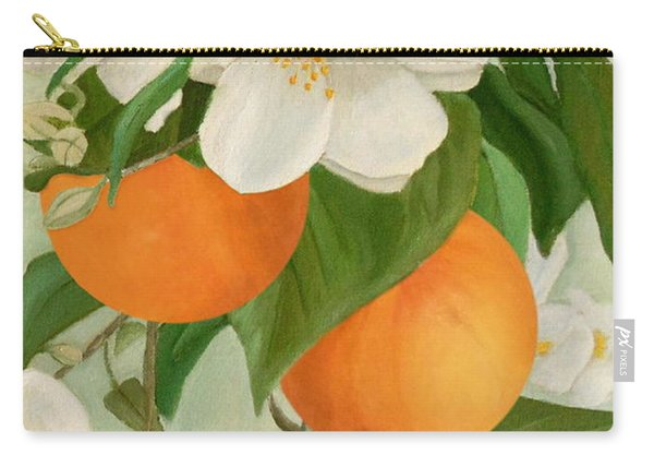 Branch Of Orange Tree In Bloom Carry-all Pouch