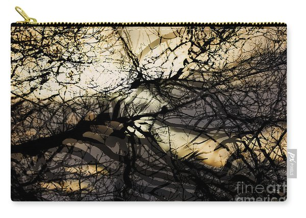 Branches Illuminated By Bright Sunshine, Double Exposed Image Carry-all Pouch