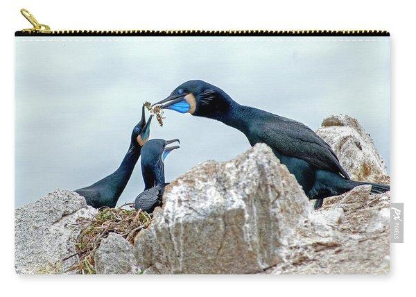Brandt's Cormorant Feeding Family Carry-all Pouch
