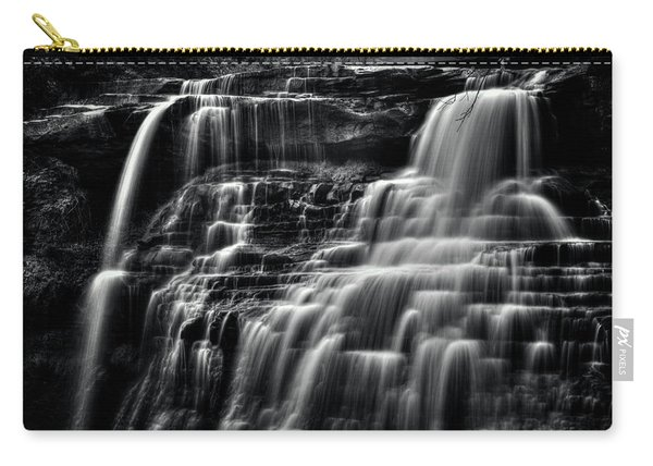 Brandywine Falls At Cuyahoga Valley National Park B W Carry-all Pouch