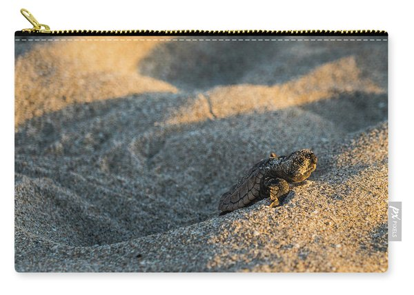Brave Beginnings Sea Turtle Hatchling Delray Beach Florida Carry-all Pouch