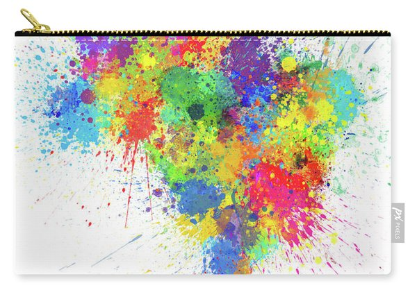 Brazil Paint Splashes Map Carry-all Pouch