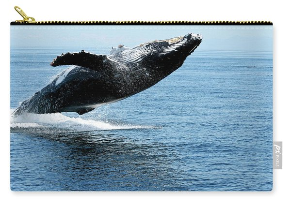 Breaching Humpback Whales Happy-2 Carry-all Pouch