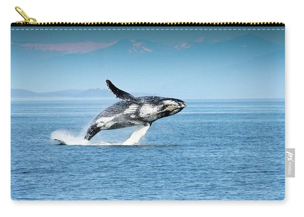 Breaching Humpback Whales Happy-4 Carry-all Pouch