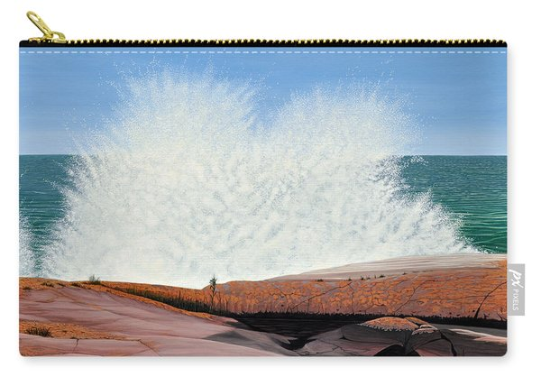 Breakers On Georgian Bay Carry-all Pouch