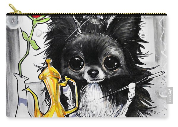 Breakfast At Tiffany's Papillon Caricature Art Print Carry-all Pouch