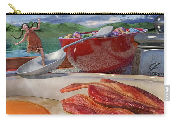 Breakfast Beeline To Bacon Carry-all Pouch