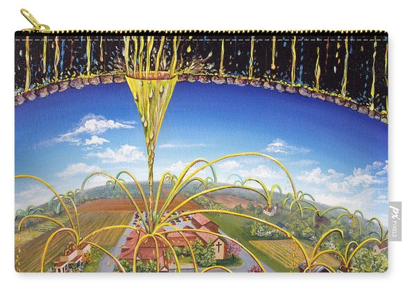 Carry-all Pouch featuring the painting Breakthrough by Nancy Cupp