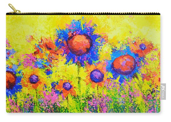 Breath Of Sunshine - Modern Impressionist Artwork - Palette Knife Work Carry-all Pouch