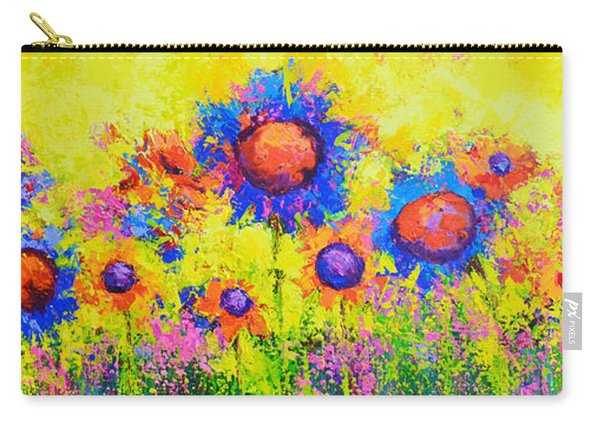 Breath Of Sunshine - Modern Impressionist Artwork - Palette Knife Work Carry-all Pouch