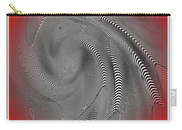 Carry-all Pouch featuring the digital art Breathing Heart by Visual Artist Frank Bonilla