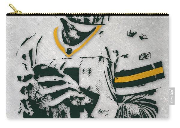 Brett Favre Green Bay Packers Pixel Art Carry-all Pouch