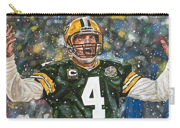 Carry-all Pouch featuring the painting Brett Favre by Joel Tesch