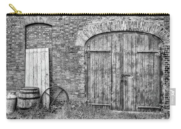 Carry-all Pouch featuring the photograph Brewhouse Door by Nick Bywater