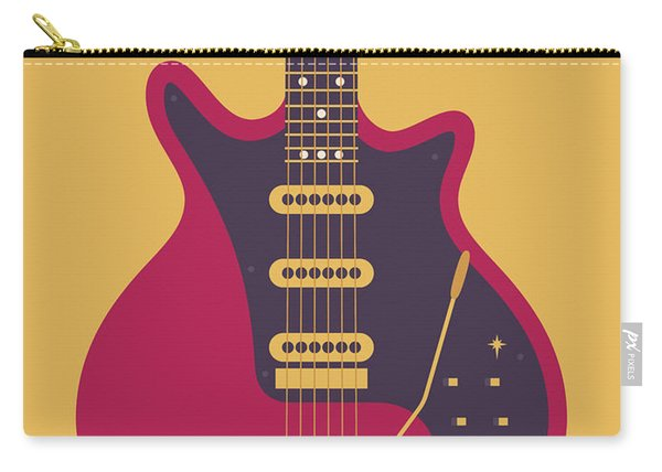 Red Special Guitar - Gold Carry-all Pouch