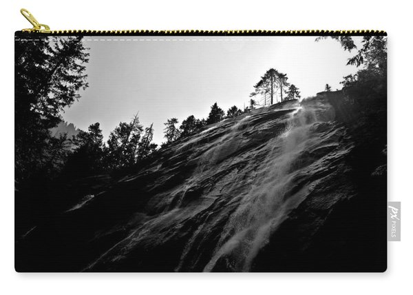 Bridal Veil Falls In Black And White Carry-all Pouch