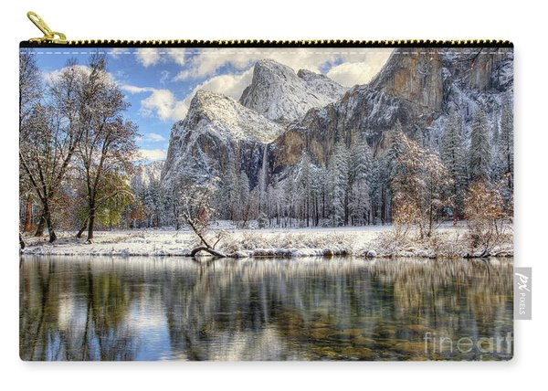 Bridalveil Falls From Valley View Yosemite National Park  Carry-all Pouch