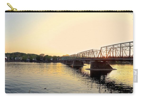 Bridge And New Hope At Sunset Carry-all Pouch
