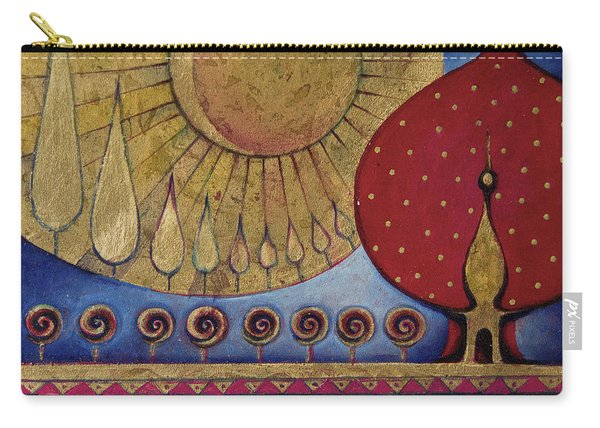 Bridge Between Sunrise And Moonrise Carry-all Pouch