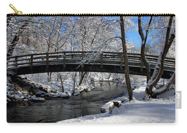 Bridge In Winter Carry-all Pouch
