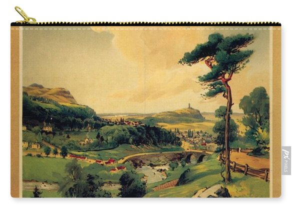 Bridge Of Allan, Stirlingshire - The Caledonian Railway - Retro Travel Poster - Vintage Poster Carry-all Pouch