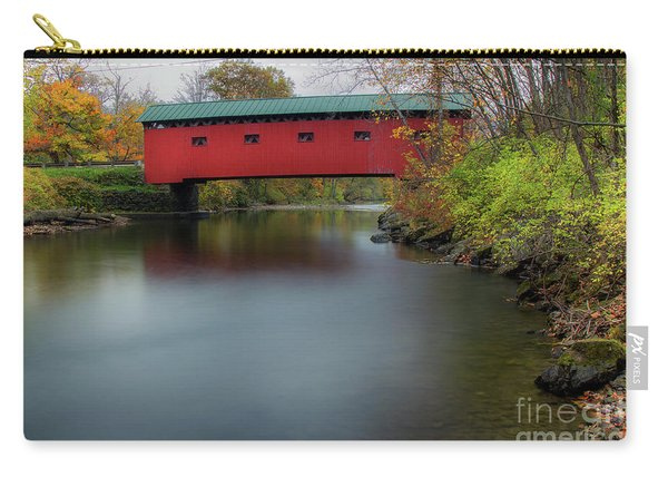 Bridge On The Green - Fall Version Carry-all Pouch