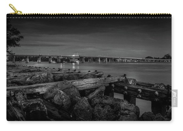 Bridge To Longboat Key In Bw Carry-all Pouch