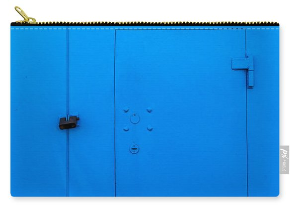 Bright Blue Locked Door And Padlock Carry-all Pouch