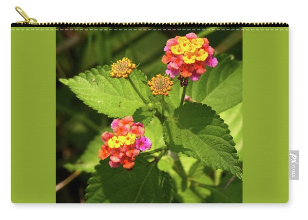 Bright Cluster Of Lantana Flowers Carry-all Pouch