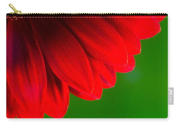 Bright Red Chrysanthemum Flower Petals And Stamen Carry-all Pouch