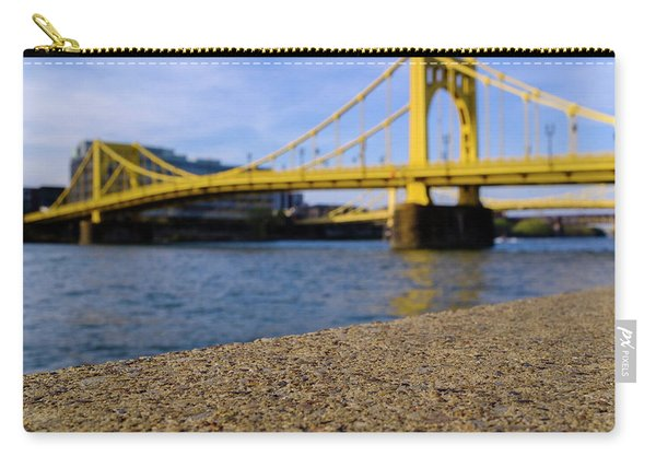 Bright Yellow Bridge In Downtown Pittsburgh Pennsylvania Carry-all Pouch