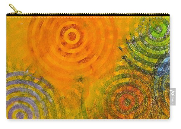 Carry-all Pouch featuring the painting Bring Down Colored Rain by Cliff Spohn