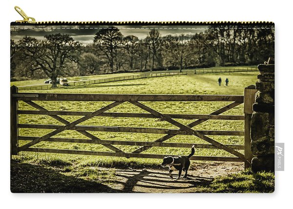 Carry-all Pouch featuring the photograph Bringing It Back by Nick Bywater