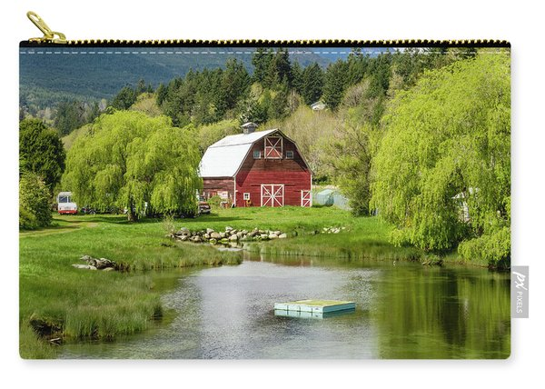 Brinnon Washington Barn By Pond Carry-all Pouch