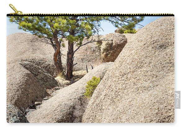 Carry-all Pouch featuring the photograph Bristlecone In Granite 2 by Tim Newton