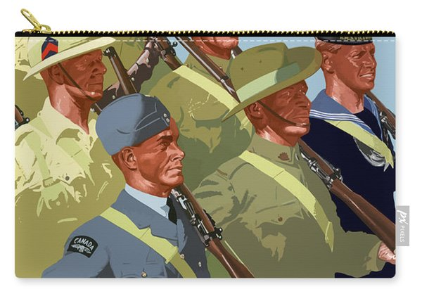 British Empire Soldiers Together Carry-all Pouch