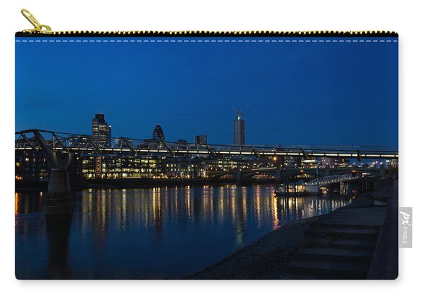 British Symbols And Landmarks - Millennium Bridge And Thames River At Low Tide Carry-all Pouch