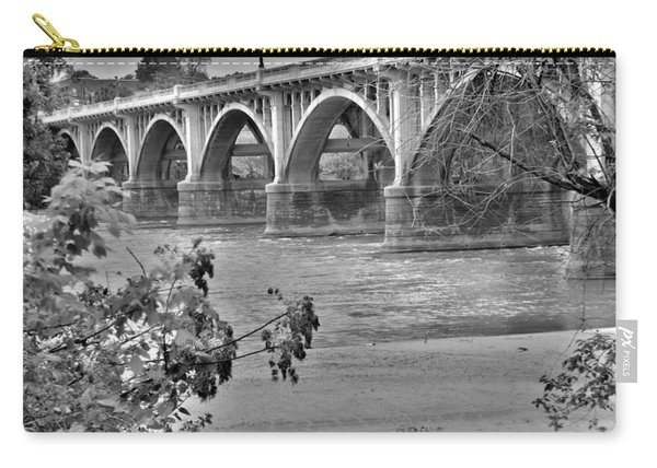 Gervais Street Bridge Black And White Carry-all Pouch