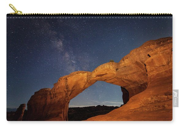 Broken Arch And Milky Way Carry-all Pouch