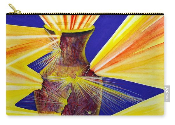 Carry-all Pouch featuring the painting Broken Vessel by Nancy Cupp
