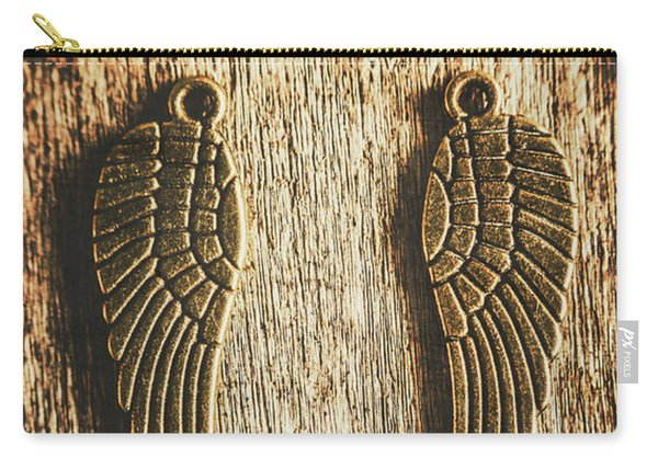 Bronze Angel Wings Carry-all Pouch