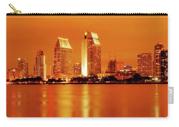 Bronze San Diego Skyline Carry-all Pouch