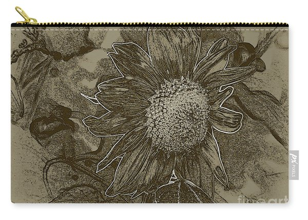 Bronzed Out Sunflower Carry-all Pouch