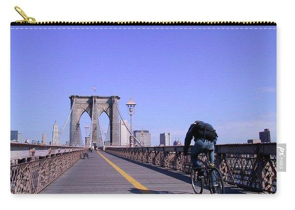 Brooklyn Bridge Bicyclist Carry-all Pouch