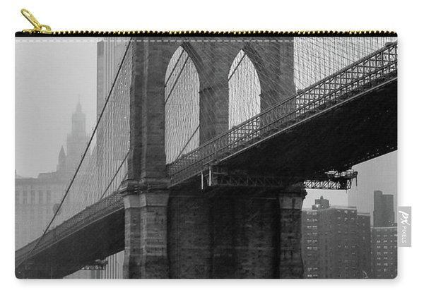 Brooklyn Bridge In A Storm Carry-all Pouch