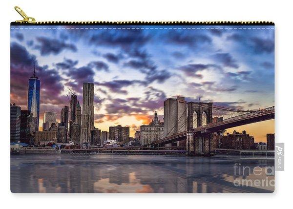 Brooklyn Bridge Manhattan Sunset Carry-all Pouch